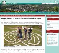 Website Bericht Labyrinth