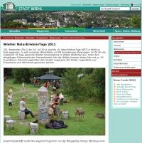 Website Stadt Wiehl NET 2011