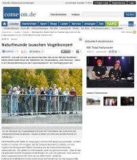 Bericht Vogelexkursion Zeitung